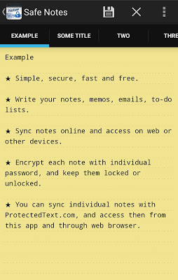 Safe Notes - screenshot