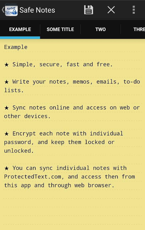 Safe Notes- screenshot