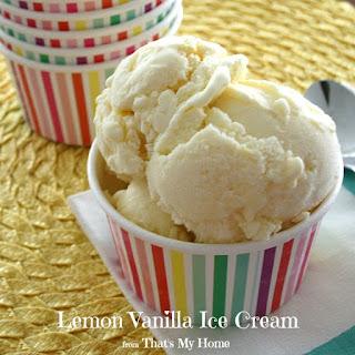 Lemon Vanilla Ice Cream
