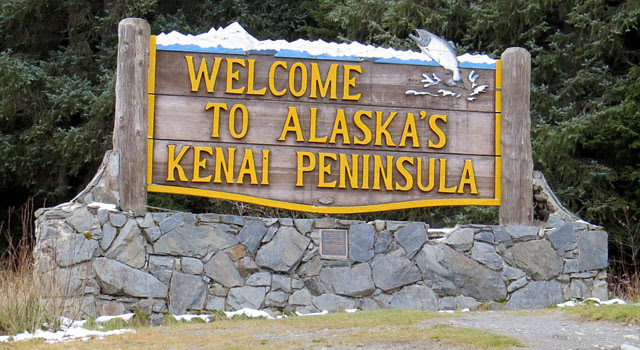 Welcome to the Kenai Peninsula sign