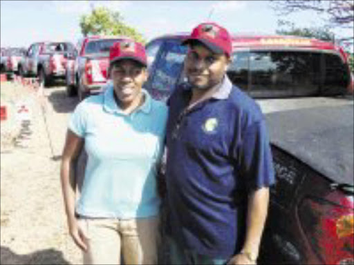 FIRST TIMERS: Moipone and Wiseman Ndaba had a great time at the rally. Pic. Bruce Fraser. © Sowetan.