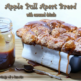 Apple Pull Apart Bread with Caramel Drizzle