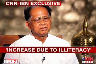 Photo: Muslims illiterate, bear more children: Assam Chief Minister Tarun Gogoi http://t.in.com/bsim