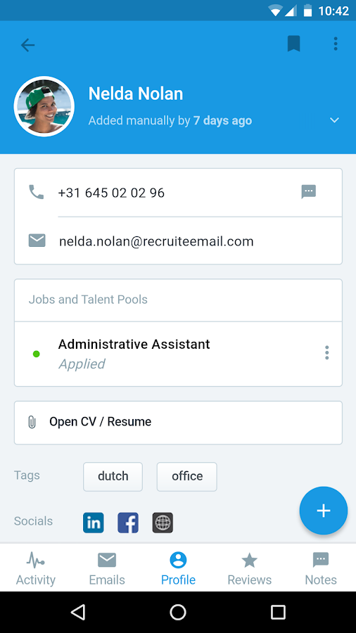 Recruitee- screenshot