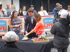 Photo: Taping Access Hollywood TV show.