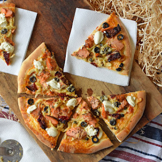 Tuscan Hot Smoked Salmon and Sundried Tomato Pizza