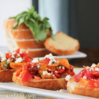 Easy Heirloom Tomato Bruschetta.