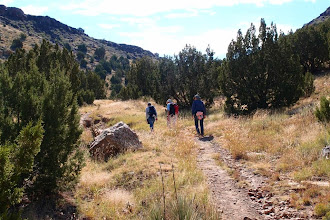 Photo: Starting the climb. Not much oxygen. This is almost 4000'.