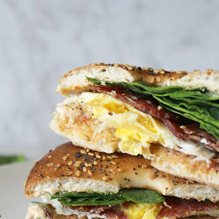 CHIPOTLE CREAM CHEESE BREAKFAST BAGELS.