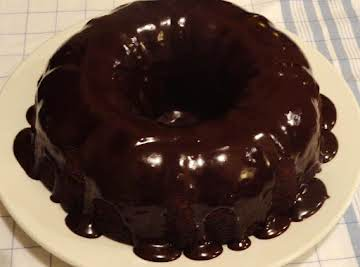 Chocolate, Cranberry, Apple cake