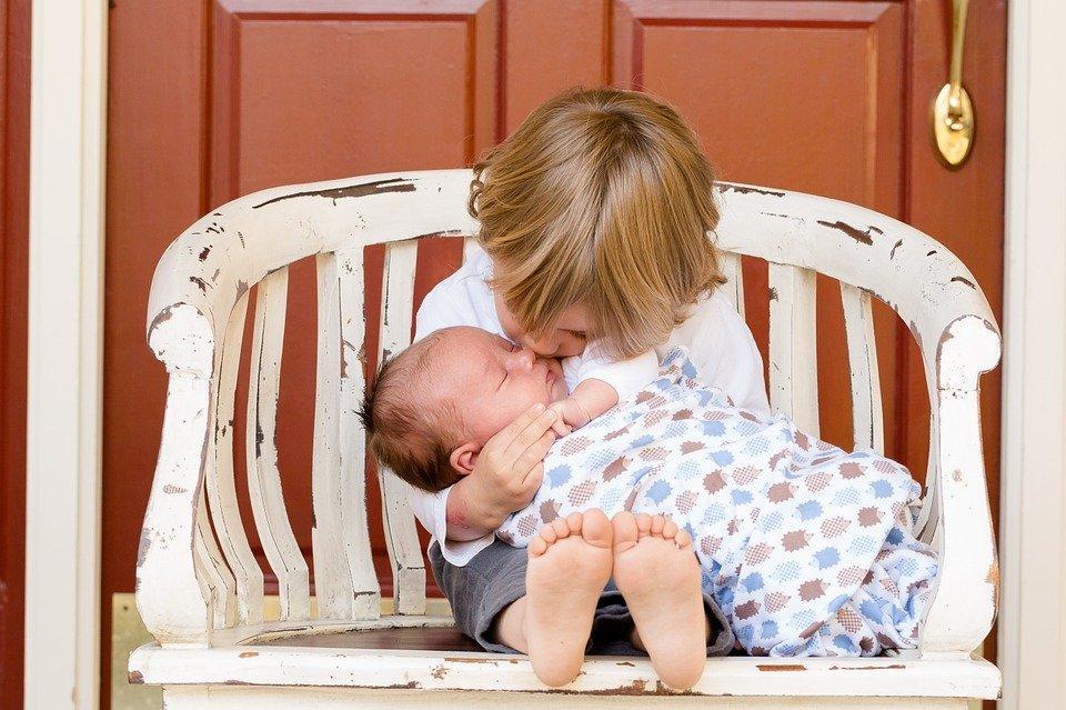 Brothers, Boys, Affection, Kids, Baby, Newborn
