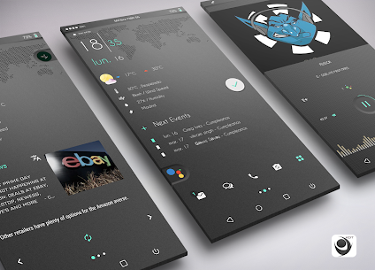 Gray Bloom XIU for Kustom/klwp 9.5 Latest APK Free Download 1