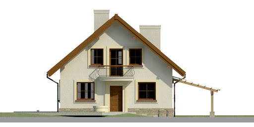 Dom przy Pomarańczowej - Elewacja przednia