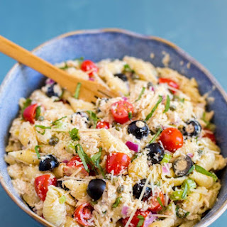 Tuna Pasta Salad With Capers.