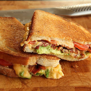 Grilled Cheese with Bacon, Tomato, and Avocado.