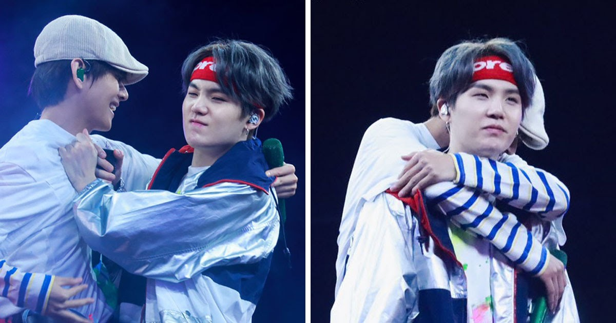 BTS Suga's Reaction To V's Hugs Is Making Everybody Feel Soft