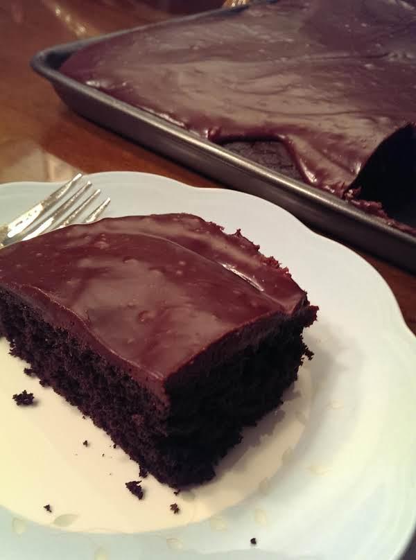 Dark Chocolate Sheet Cake-chocolate Ganache Icing Recipe