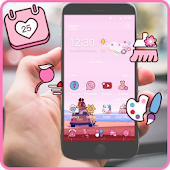 Pink Love Theme for Android Free