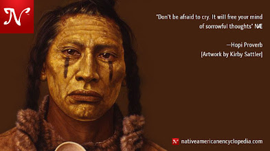 Photo: Don't be afraid to cry. It will free your mind of sorrowful thoughts. —Hopi Proverb [Artwork by Kirby Sattler]