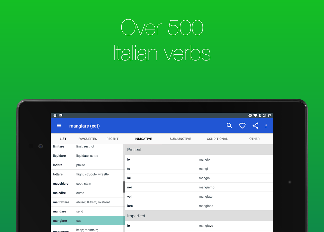 Italian Verb Conjugator- screenshot