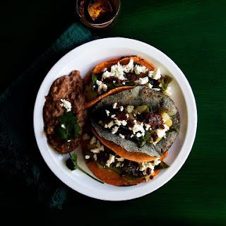Potato and Poblano Pepper Tacos.