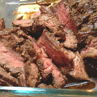 Grilled Marinated Roast Beef.