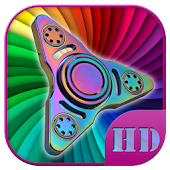 Rainbow Fidget Spinner Lock Screen HD