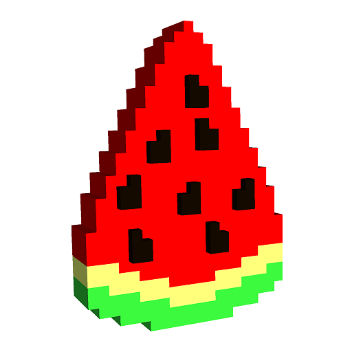 Food 3D Color by Number: Voxel Coloring Book Pages Icon