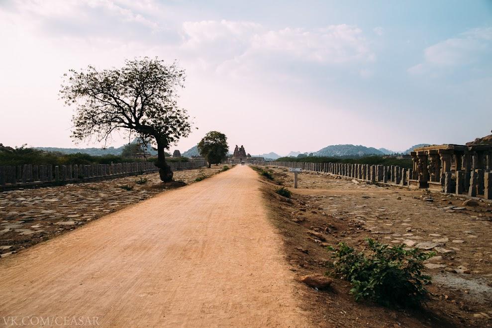 Дорога к храму Виттала. Хампи