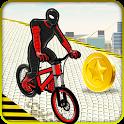 Super Hero Rooftop BMX Bicycle Stunts icon