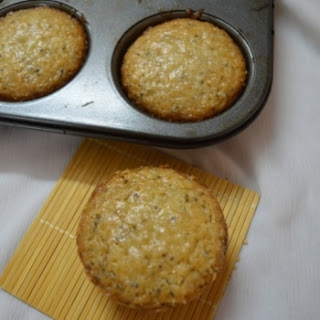 Lemon Cupcakes With Chia Seeds.