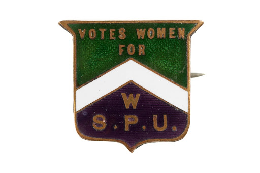 WSPU enamel badge