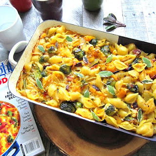 Amazing Mac 'n Cheese w/ Brussels Sprouts & Butternut Squash