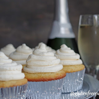 Gluten-Free White Champagne Cupcakes (9 Ingredients)