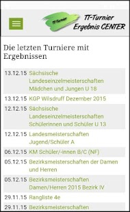 TT-Turnier ErgebnisCenter- screenshot thumbnail