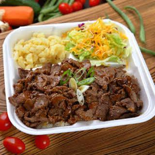 Teriyaki Beef or Chicken.