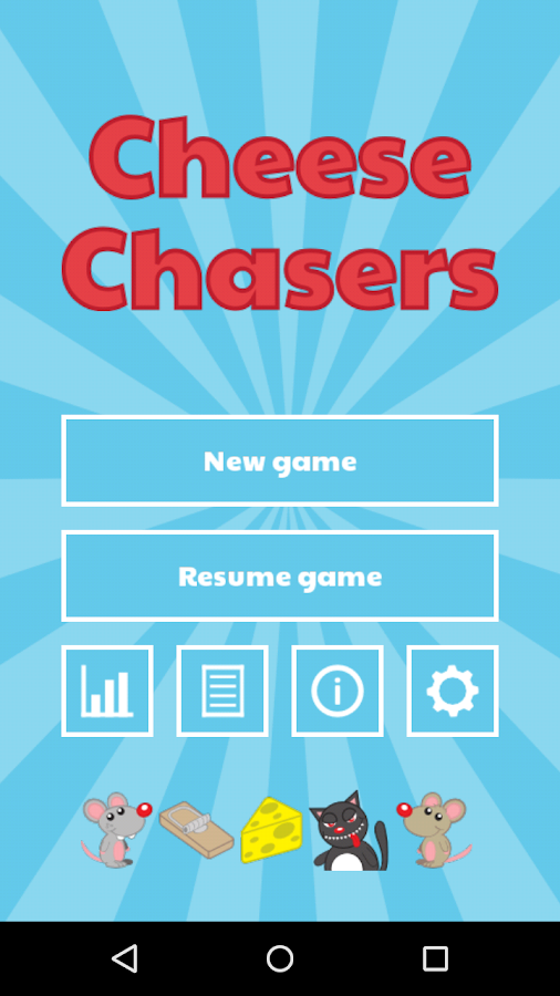 Cheese Chasers Board Game- screenshot