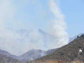 Photo: View east from Hwy 39 toward the Williams Fire 2012
