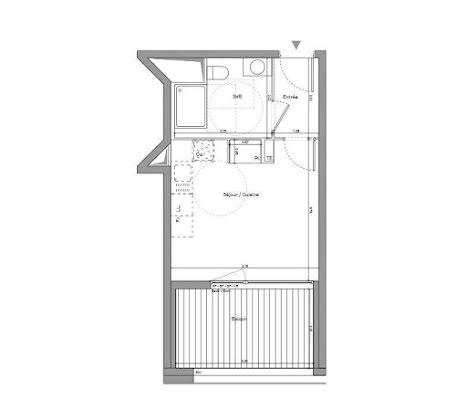 Vente studio 23,8 m2