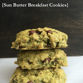 Sun Flower Seed Butter Breakfast Cookies (10 Ingredients)