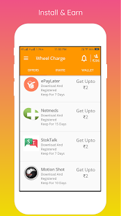 Wheel Charge - Offers & Free Recharge Screenshot