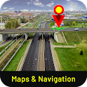 GPS Route Tracker, Street view : Maps , Directions icon
