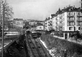 Photo: Lausanne Ouchy - Lausanne Flon - www.standseilbahnen.ch Standseilbahn Funiculaire Funicular