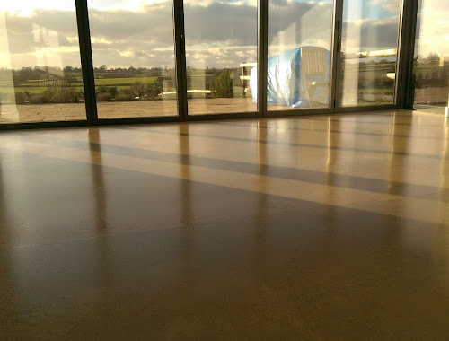 Polished concrete floor repair