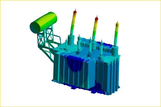 ANSYS - Модальный анализ корпуса трансформатора