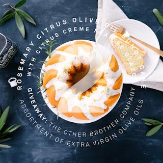 ROSEMARY CITRUS OLIVE OIL BUNDT CAKE WITH CITRUS CREME FRAICHE GLAZE