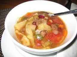 Cabbage And Bean Soup Recipe