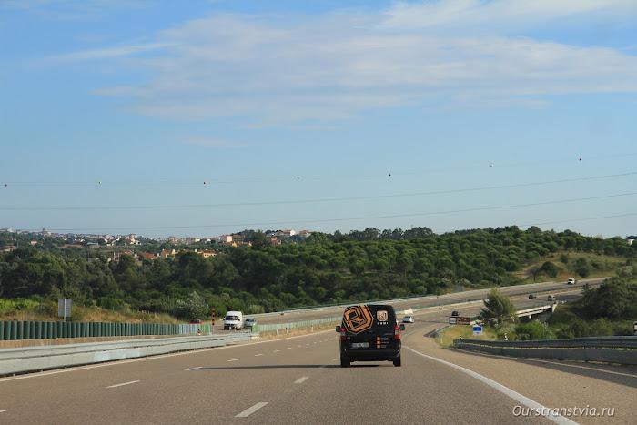 Дороги Португалии, трасса Лиссабон - Порту