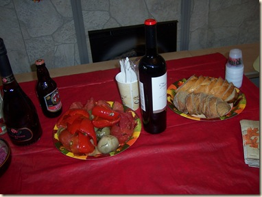 Thanksgiving2007 pickled veggies liquor bread