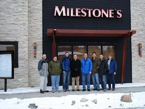 Photo: DJ Houghton, Oleg Besedin, John Arthorne, Andrew Niefer, Tim Mok, Pascal Rapicault, Kim Moir.  Jeff's going way lunch to create startup Code 9.